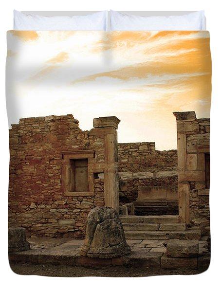 The Palaestra -kourion-apollo Duvet Cover by Augusta Stylianou
