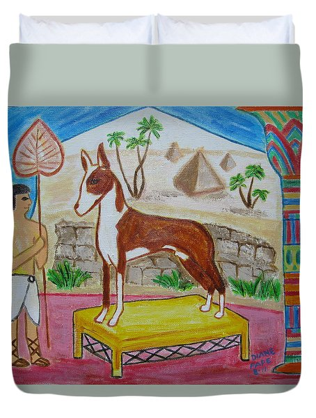 Duvet Cover featuring the painting The Pampered One by Diane Pape