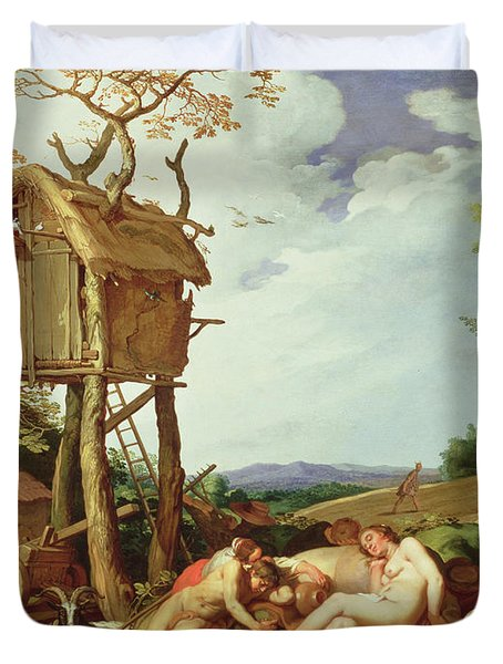 The Parable Of The Wheat And The Tares Duvet Cover by Abraham Bloemaert