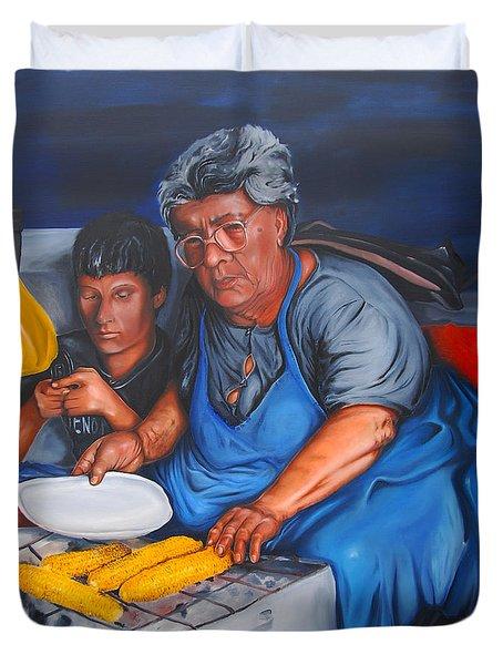 The Parga Corn Seller Duvet Cover