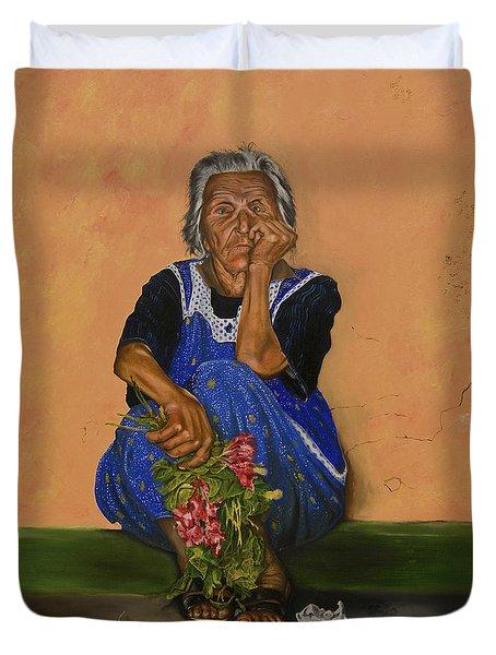 The Parga Flower Seller Duvet Cover