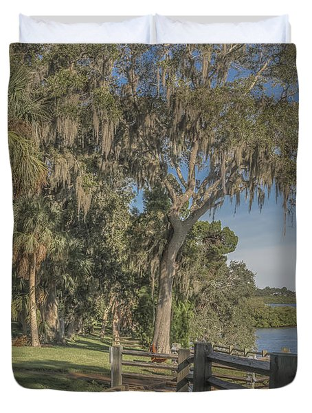 Duvet Cover featuring the photograph The Park by Jane Luxton
