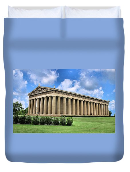 The Parthenon Duvet Cover by Kristin Elmquist