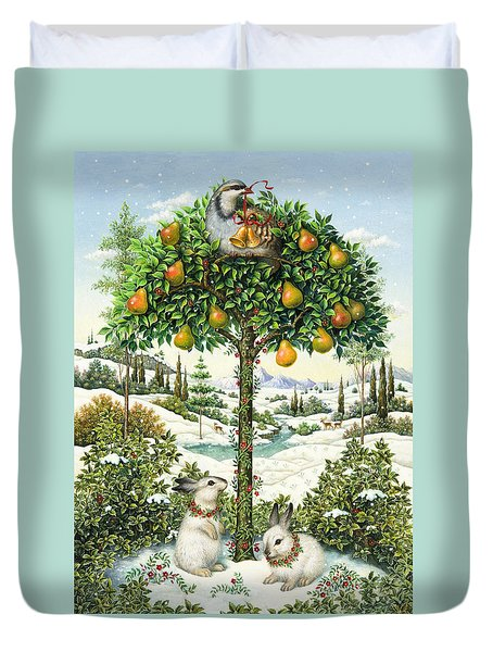 The Partridge In A Pear Tree Duvet Cover