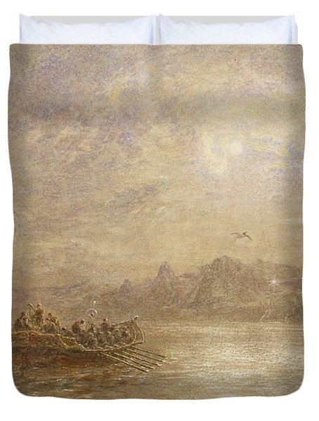The Passing Of 1880 Duvet Cover by Thomas Danby