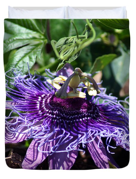 The Passion Flower Duvet Cover
