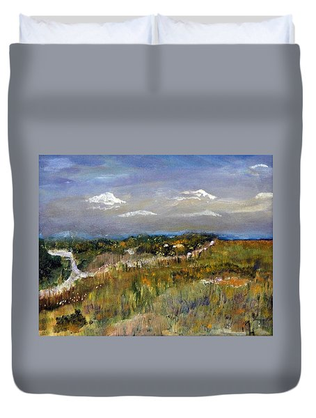 The Path Not Taken Duvet Cover