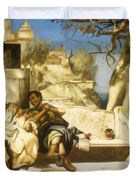 The Patrician's Siesta Duvet Cover by Hendrik Siemiradzki