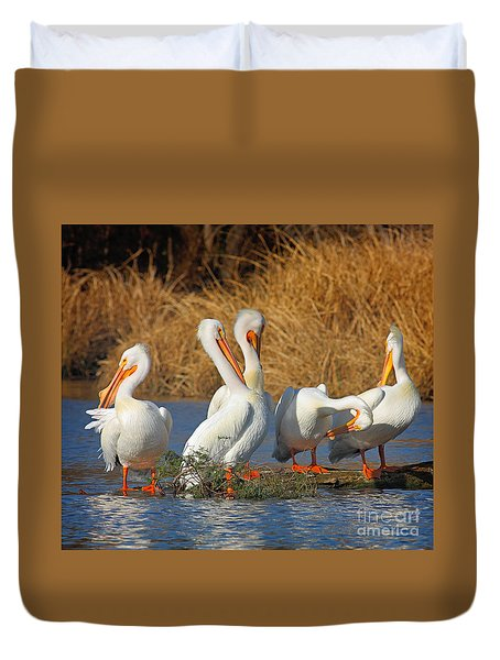 The Pelican Gang Duvet Cover