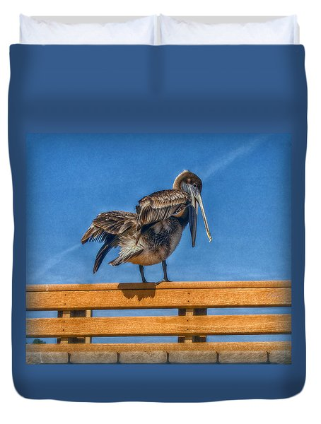 The Pelican Duvet Cover by Hanny Heim