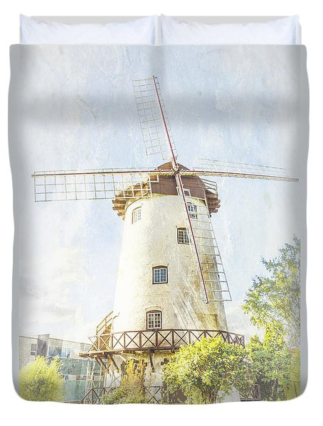 The Penny Royal Windmill Duvet Cover by Elaine Teague