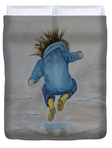 The Perfect Puddle... Jump Duvet Cover