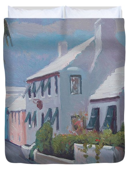 The Perfume Factory Duvet Cover by Dianne Panarelli Miller