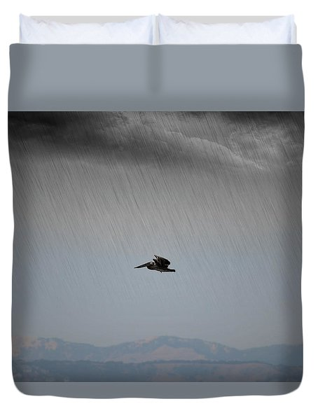 The Persevering Pelican Duvet Cover