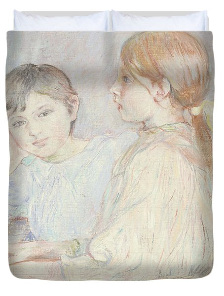The Piano Duvet Cover by Berthe Morisot