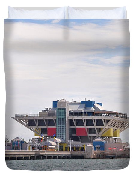 The Pier At St Petersburg Duvet Cover by Bill Cannon