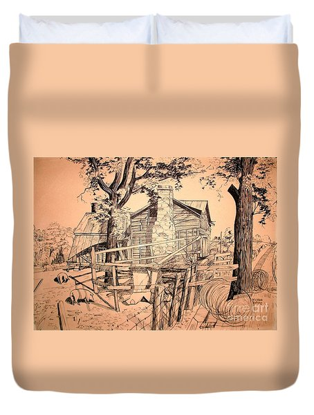 The Pig Sty Duvet Cover