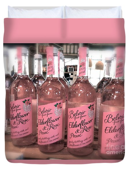 The Pink Drink Duvet Cover
