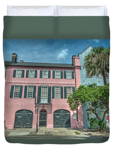 The Pink House Duvet Cover