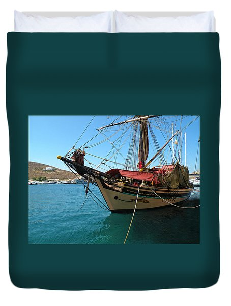 The Pirate Ship  Duvet Cover
