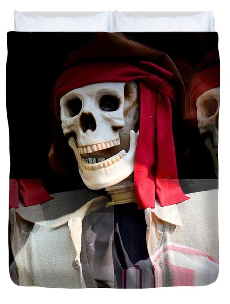 The Pirate's Ghost Duvet Cover by Maria Urso