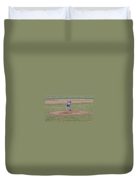 The Pitcher Digital Art Duvet Cover by Thomas Woolworth