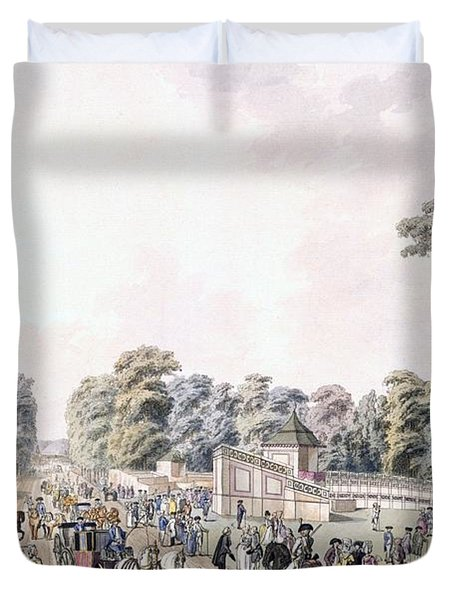 The Place Of The Fireworks At Prater Duvet Cover