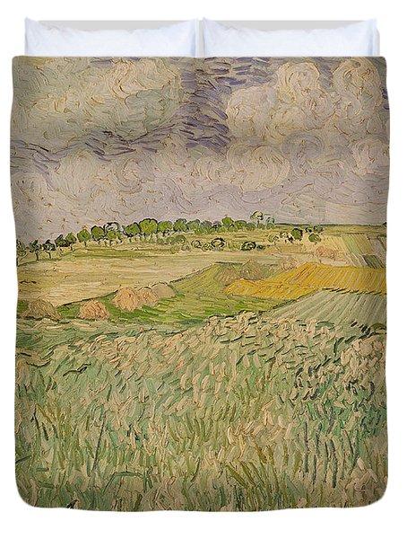 The Plain At Auvers Duvet Cover