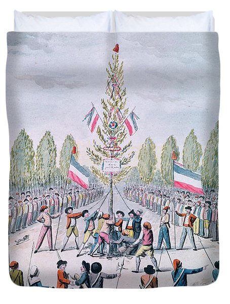 The Plantation Of A Liberty Tree During The Revolution, C.1792 Wc On Paper Duvet Cover