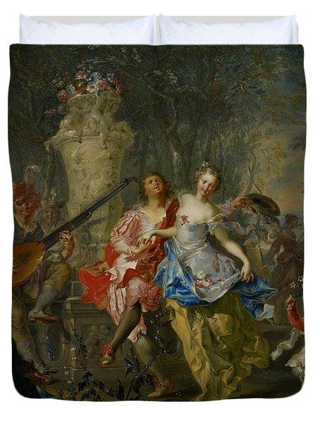 The Pleasures Of The Seasons     Spring Duvet Cover by Johann Georg Platzer