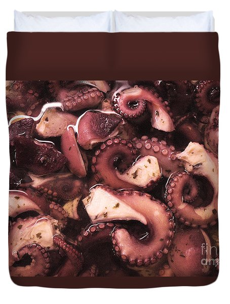Duvet Cover featuring the photograph The Plural Of Octopus by William Fields