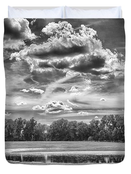 Duvet Cover featuring the photograph The Pond by Howard Salmon