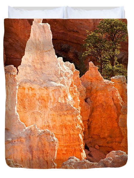 The Pope Sunrise Point Bryce Canyon National Park Duvet Cover