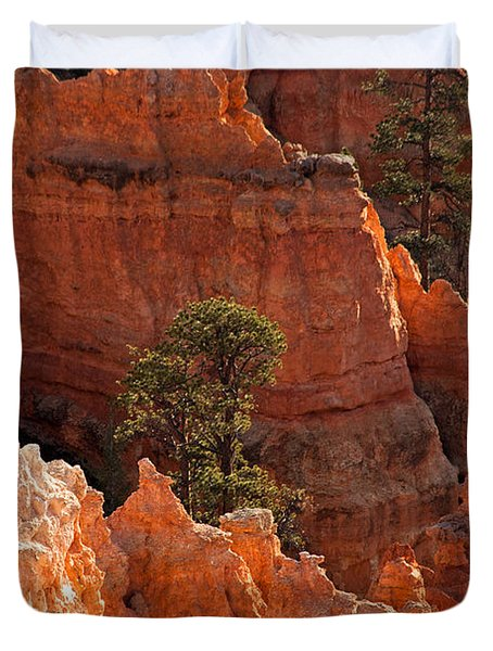 The Popesunrise Point Bryce Canyon National Park Duvet Cover