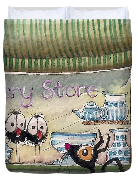 The Pottery Store Duvet Cover by Lucia Stewart
