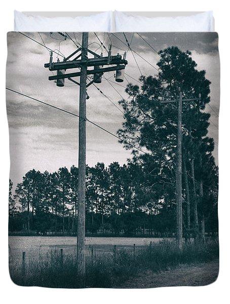 The Power Lines  Duvet Cover