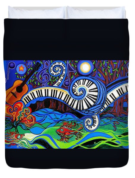 The Power Of Music Duvet Cover by Genevieve Esson