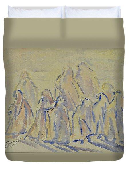 The Prayers...ii Duvet Cover by Xueling Zou