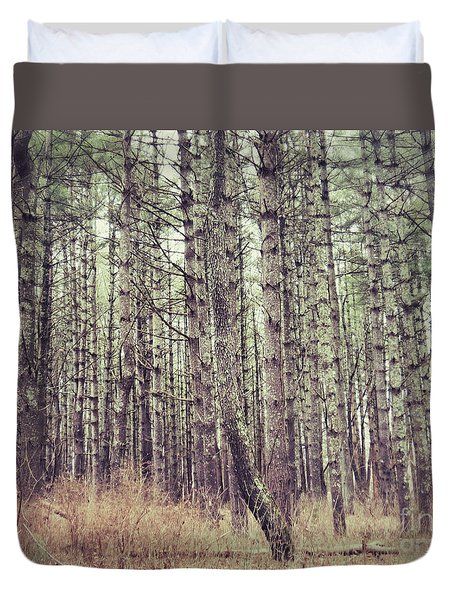 The Preaching Of The Pines Duvet Cover by Kerri Farley