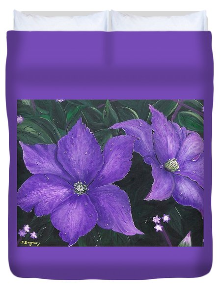 The President Clematis Duvet Cover