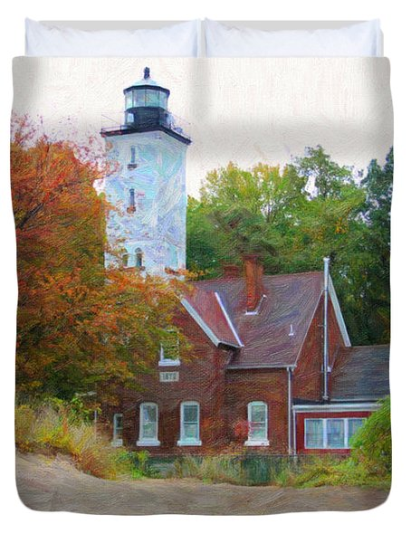 The Presque Isle Lighthouse Duvet Cover