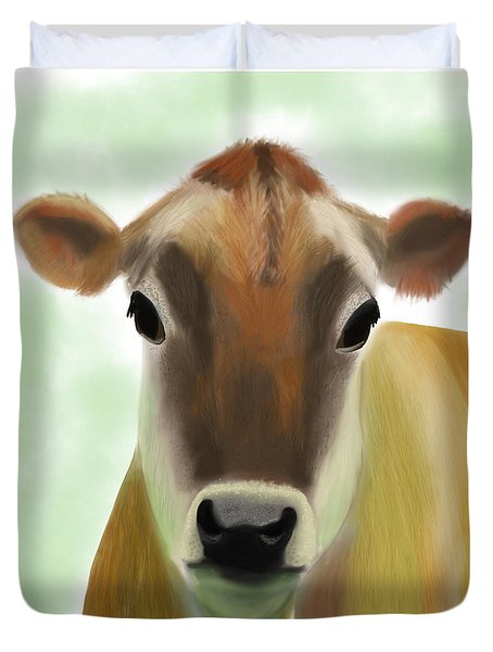 The Pretty Jersey Cow  Duvet Cover