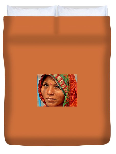 The Pride Of Indian Womenhood Duvet Cover