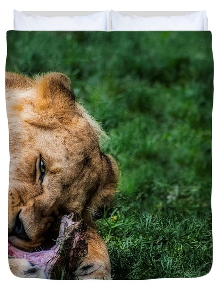 The Prince Is Hungry Duvet Cover by Hannes Cmarits