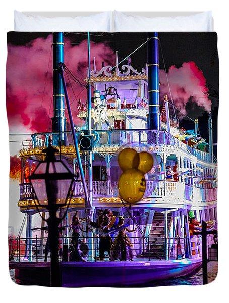 The Mark Twain Disneyland Steamboat  Duvet Cover