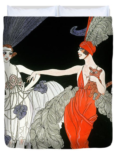 The Purchase  Duvet Cover by Georges Barbier