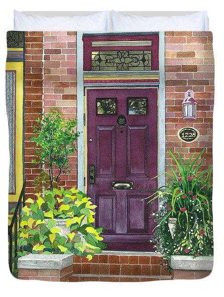 The Purple Door Duvet Cover