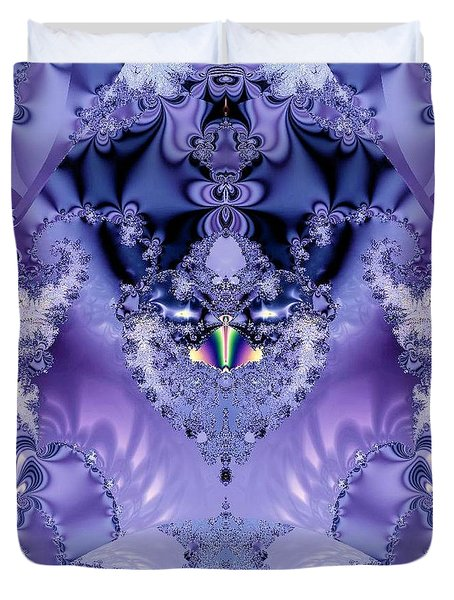 The Purple Heart Duvet Cover by Maria Urso