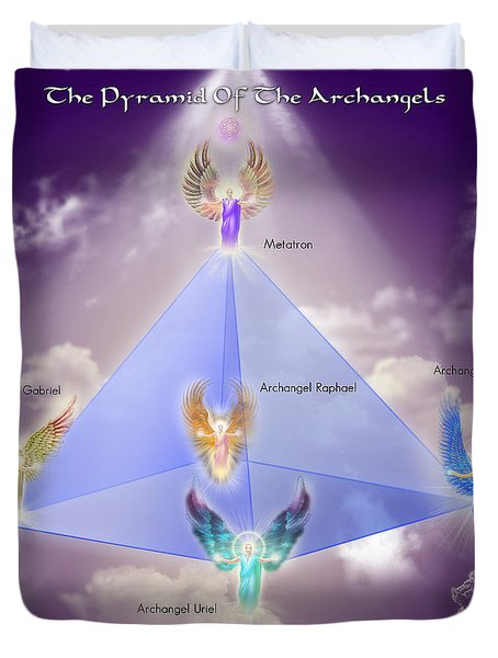 The Pyramid Of The Archangels Duvet Cover