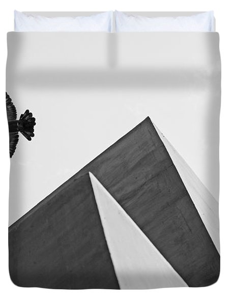 The Pyramids Of Love And Tranquility Duvet Cover